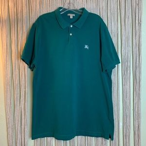Burberry Brit Teal Short Sleeve Polo Shirt XXL